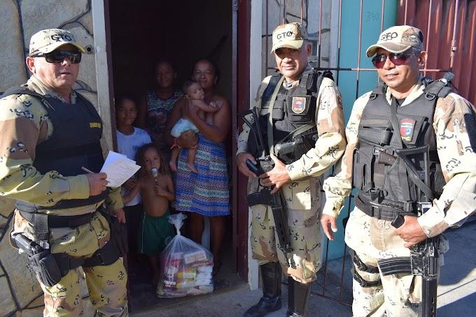 GTO de São Paulo do Potengi entrega cestas básicas para famílias carentes