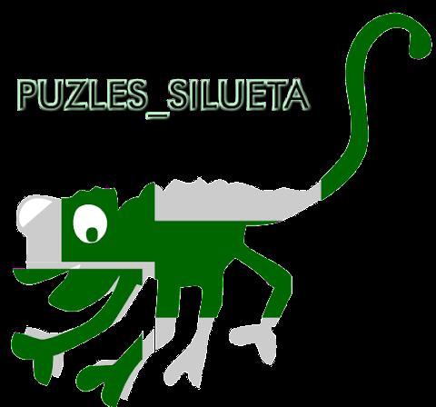 PUZZLES SILUETAS: Relaciones espaciales (forma, orientación espacial, etc) y topológica (dentro-fuera, abierto-cerrado, etc)