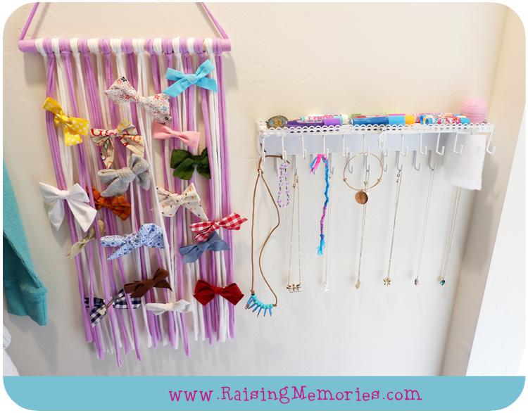 Girls Accessory Storage Ideas