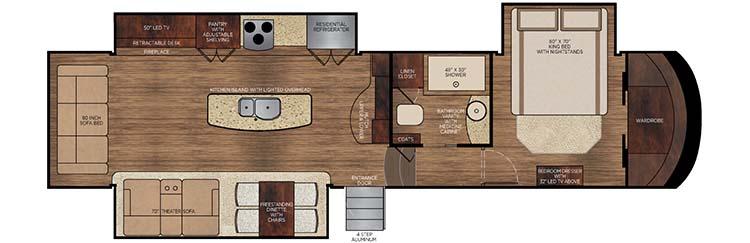 2016 Vilano 365RL floorplan