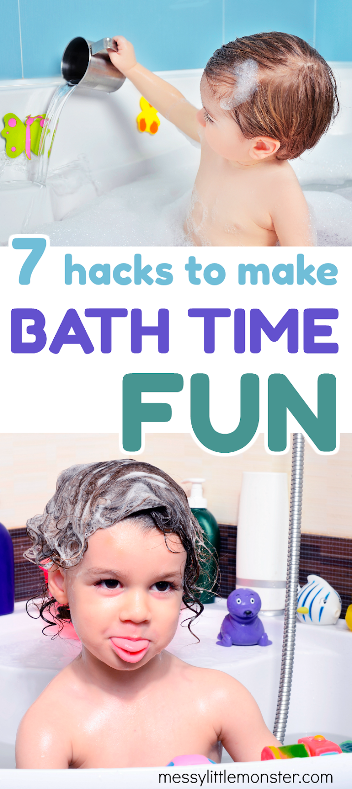 7 Hacks to Make Bath Time Fun for Toddlers