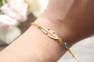 "bracelet doré ""indian blue"""