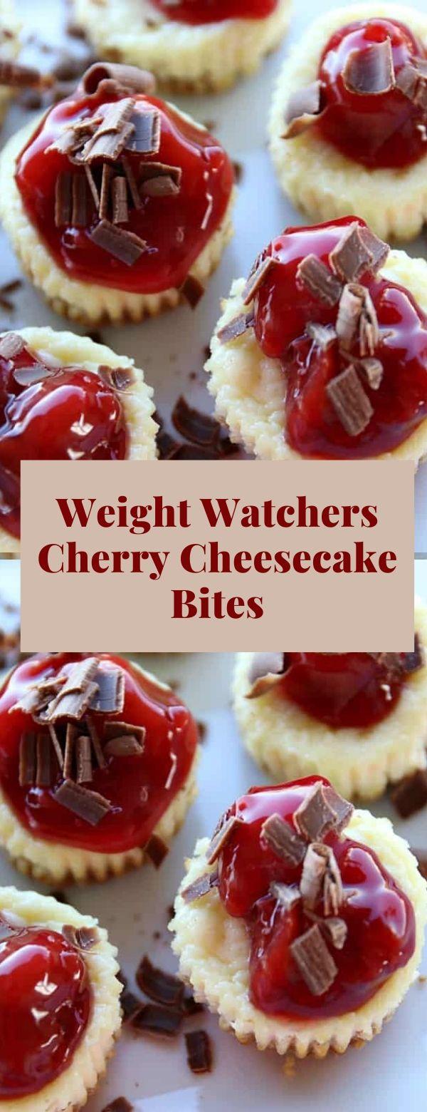 Weight Watchers Cherry Cheesecake Bites