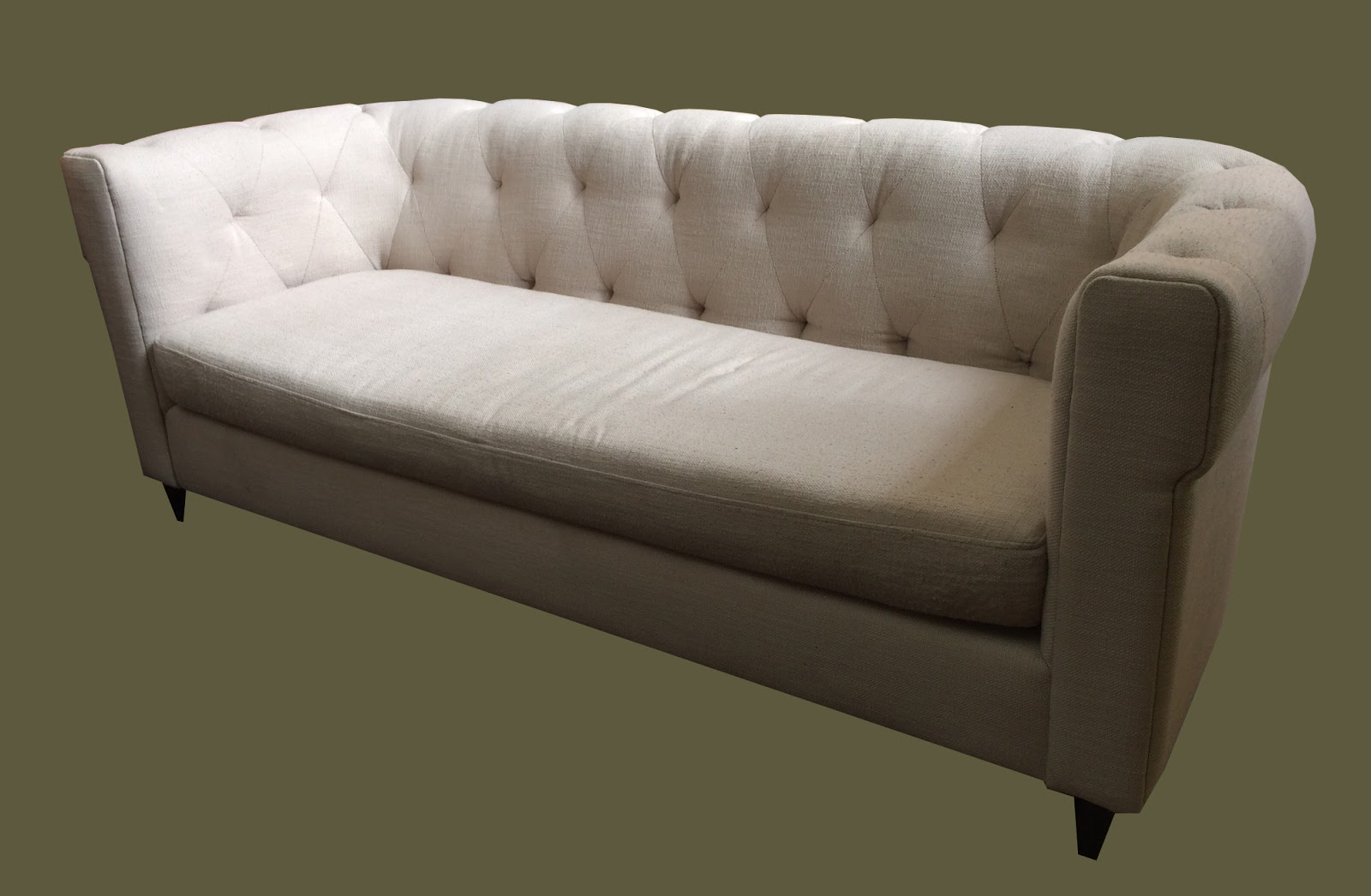 curved tufted sofa reupholster bed cost uhuru furniture and collectibles vintage cream small scale