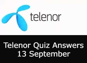 Today Telenor Quiz 13 September