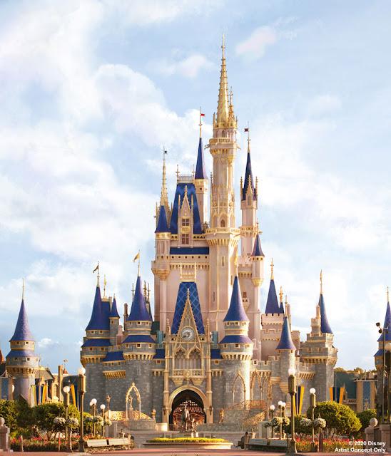 cinderella's royal make over announcement; the new cinderella's castle walt disney world; cinderella's 70th birthday