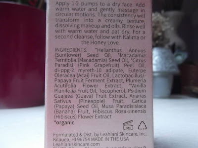 Leahlani Pamplemousse - čistiaci olej s tropickými enzýmami zloženie