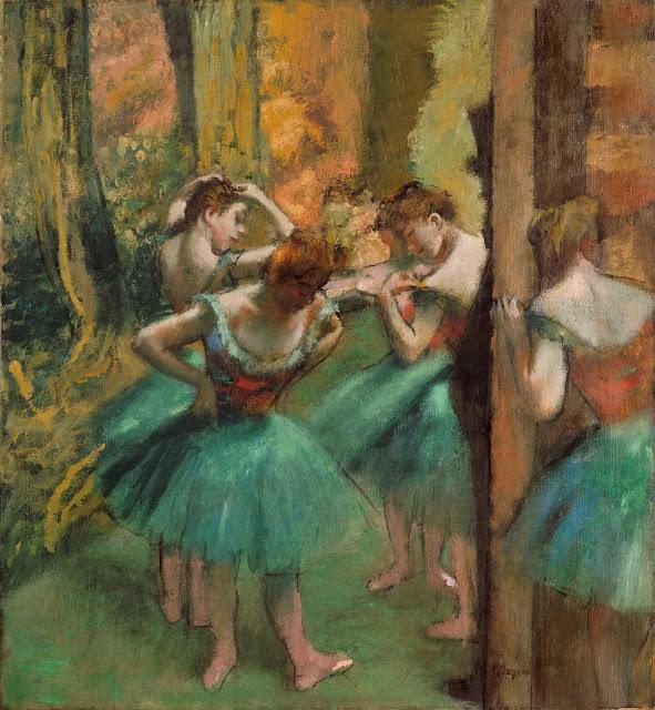 Эдгар Дега - Танцовщицы в розовом и зелёном (ок.1890)