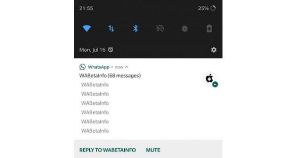 WhatsApp beta terbaru versi 2.18.216, membungkam obrolan langsung dari panel notifikasi