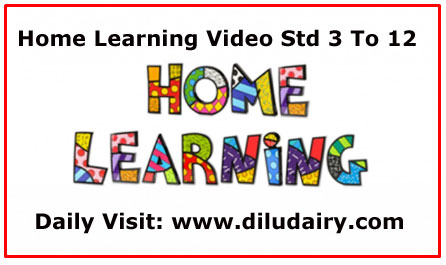 Home Learning Std 3 To 12 Date 09/02/2021