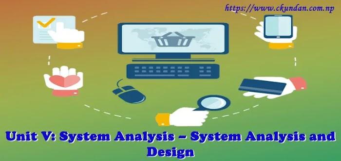 Unit V: System Analysis – System Analysis and Design