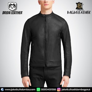 Jual Jaket Kulit Asli Garut Pria Domba Original Brida Leather B91 | WA 08813430588