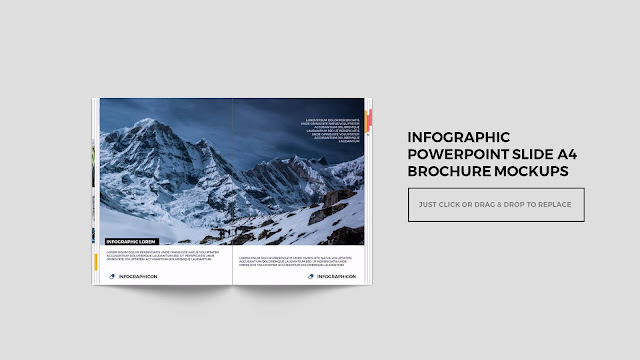 Infographic Multi Page Brochure Powerpoint Mockup Slide4