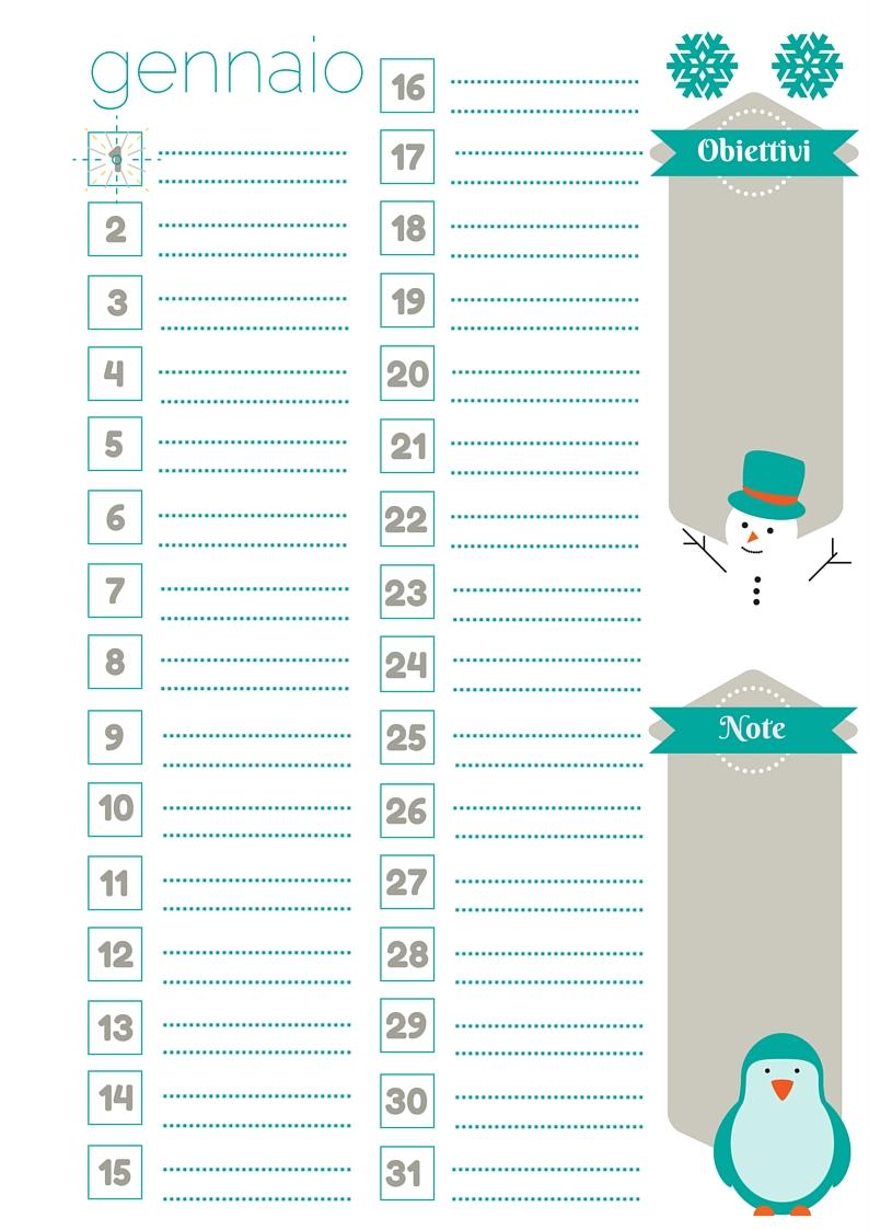 Favorito Nata disorganizzata: Refill gratuiti per l'agenda: il mese di  JN96