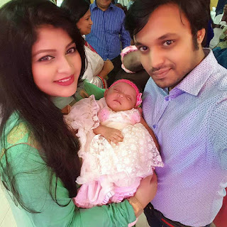 Sarika Sabrin and Her Husband Mahim Karim and their child