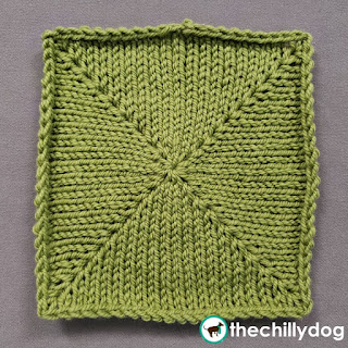 Knit Increase Sampler Squares: Block 13