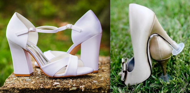 Sapato para casamento no campo