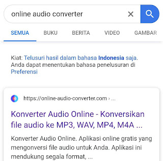 Cara convert video ke audio