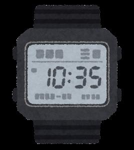 腕時計のイラスト(デジタル)