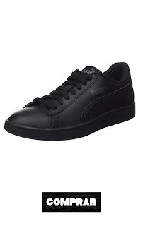 Zapatillas Unisex Adulto color negro,  PUMA Smash V2 L
