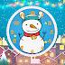 Merry Christmas Snowman Clock