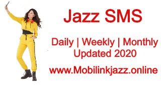 Jazz SMS Packages - Daily , Weekly & Monthly SMS Bundles