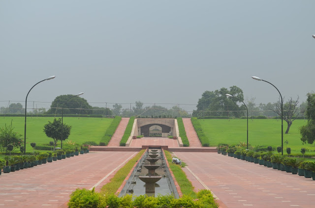 close up of Raj Ghat, Delhi