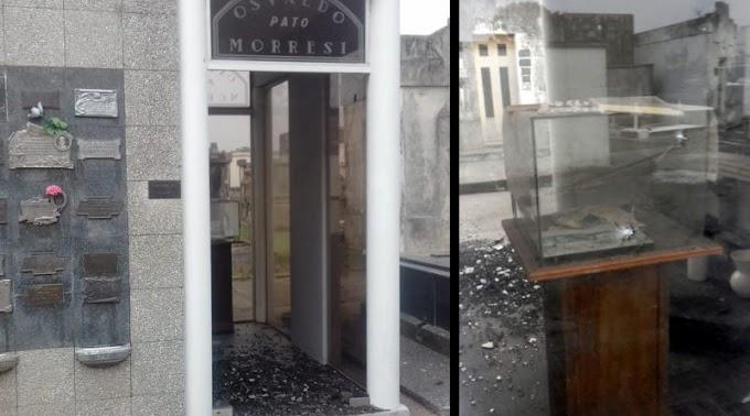 Vandalizaron el mausoleo de Osvaldo Morresi.