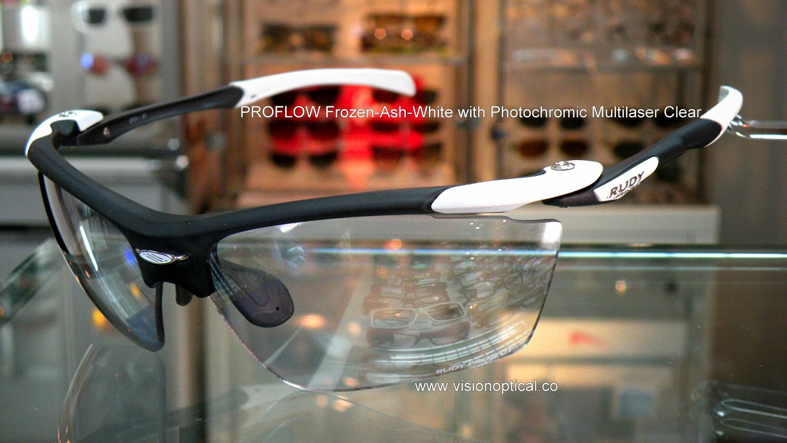 Rudy Project Proflow Frozen White with Photochromic Multilaser Clear