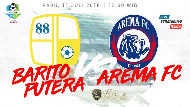 Prediksi Barito Putera Vs Arema FC, Rabu 11 Juli 2018 Pukul 15.30 WIB