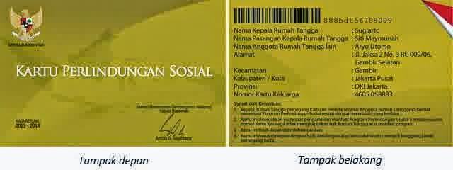 tampilan kartu perlindungan sosial