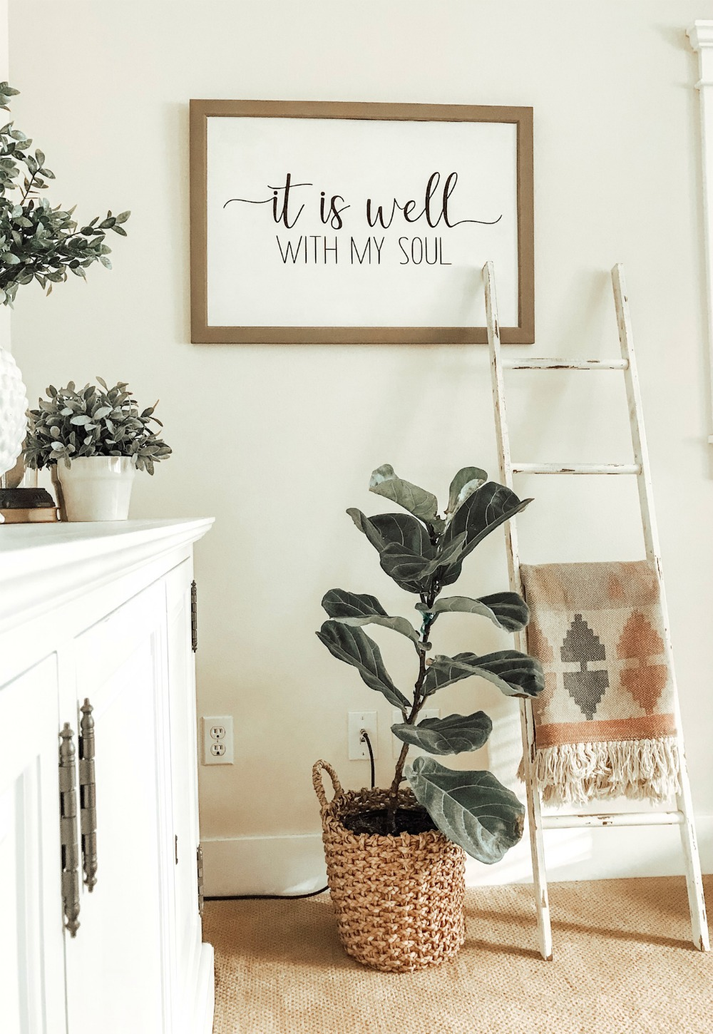 it is well with my soul vinyl silhouette sign