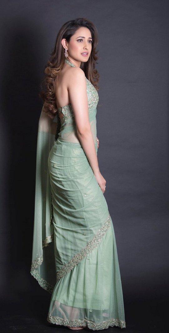Actress Pragya Jaiswal Hot Saree Photoshoot Pics