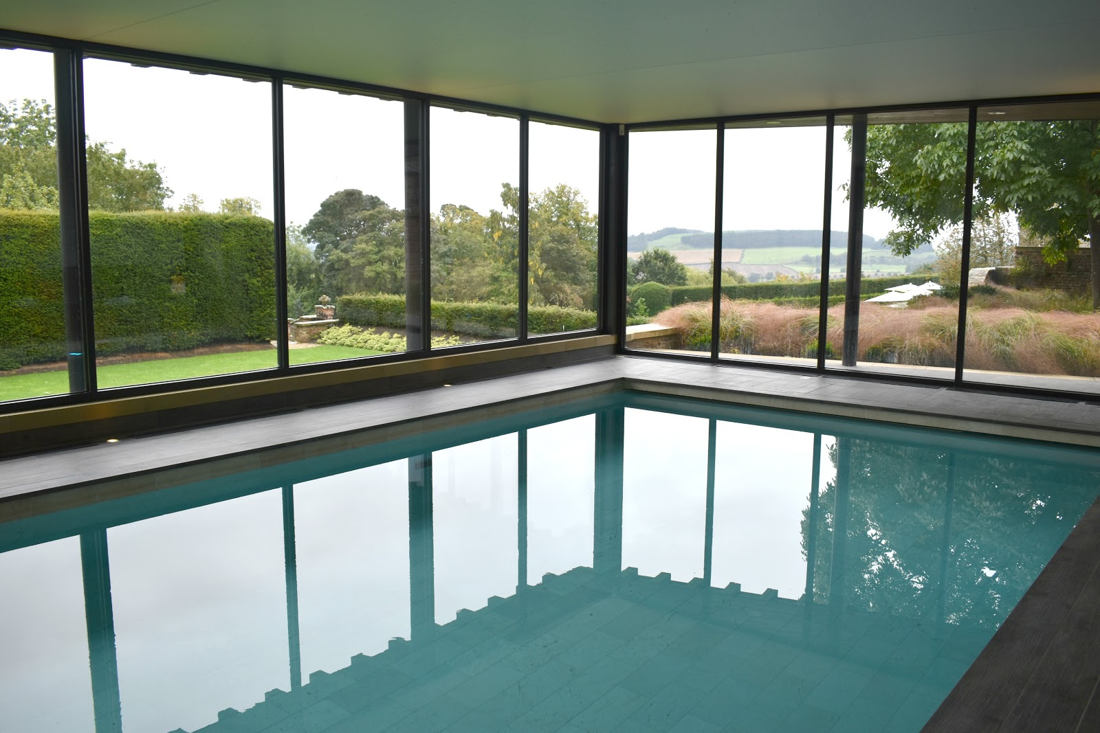 Spa Break at Walwick Hall Northumberland - Pool Views