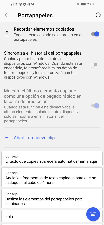 Portapapeles de Windows