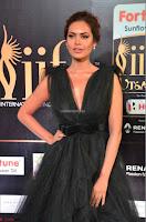 Esha Gupta in a Deep Neck Sleeveless Dark Green Gown at IIFA Utsavam Awards 2017     47.JPG