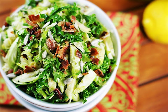 Shredded Brussels Sprouts Salad with Bacon Image
