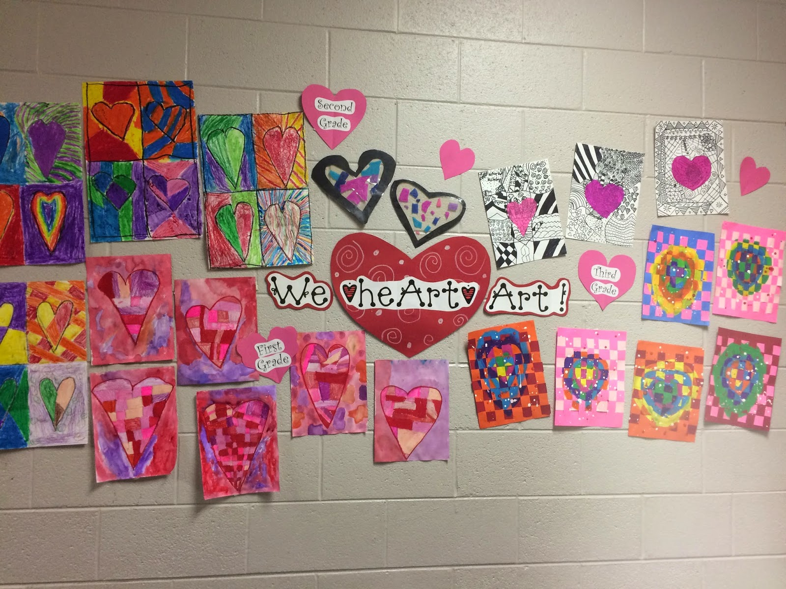 Hy Valentines Day Art Lesson For 1st Grade 2nd And 3rd