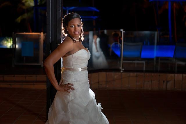 mariage Guadeloupe Gosier réception Créole Beach portrait de nuit