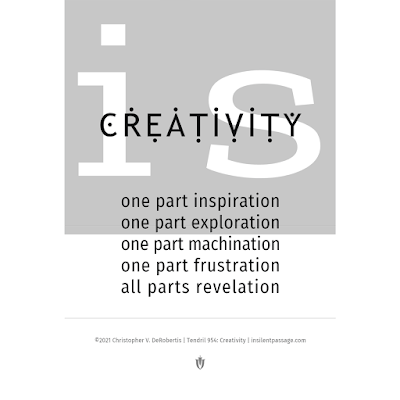 Tendril 954: Creativity Copyright 2021 Christopher V. DeRobertis. All rights reserved. insilentpassage.com