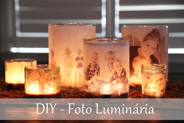 DIY como fazer luminária decorada com foto