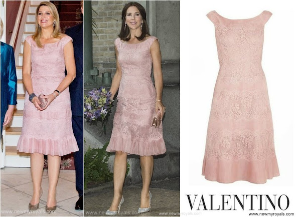 Queen Maxima Princess Mary wore same Valentino dress