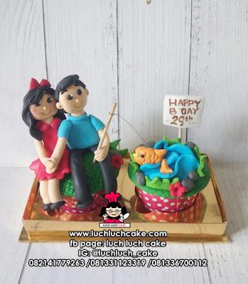 Cupcake Tema Pancing