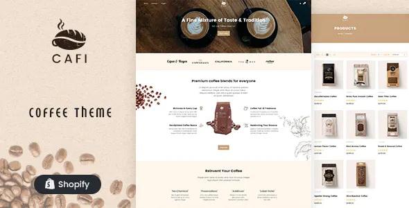 Best Coffee Shops & Cafés Responsive Shopify Theme