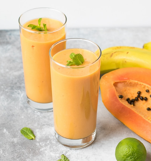 TURMERIC PAPAYA SMOOTHIE #smoothie #healthydrink