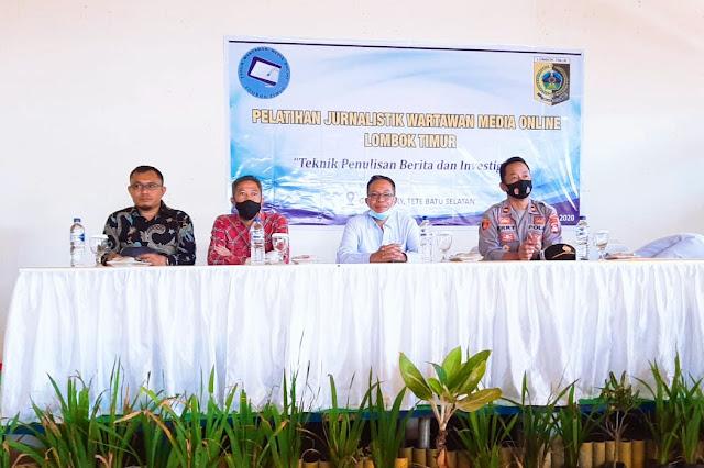 Sekda buka pelatihan jurnalistik media online Lombok Timur
