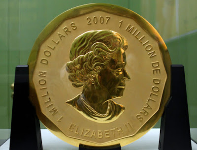 Syiling Emas Seberat 100Kg Telah Dicuri Secara Misteri