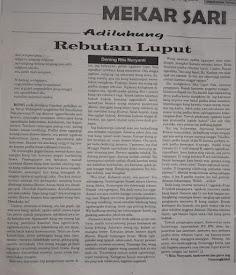 Rebutan Luput, Artikel Bahasa Jawa Adhiluhung