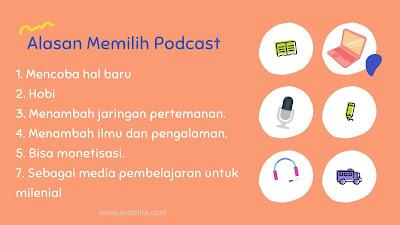 Alasan Memilih Podcast