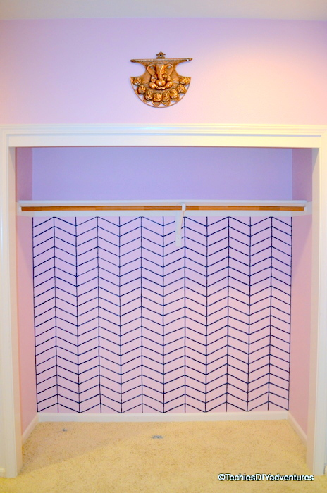 Hand Painted Chevron in Closet
